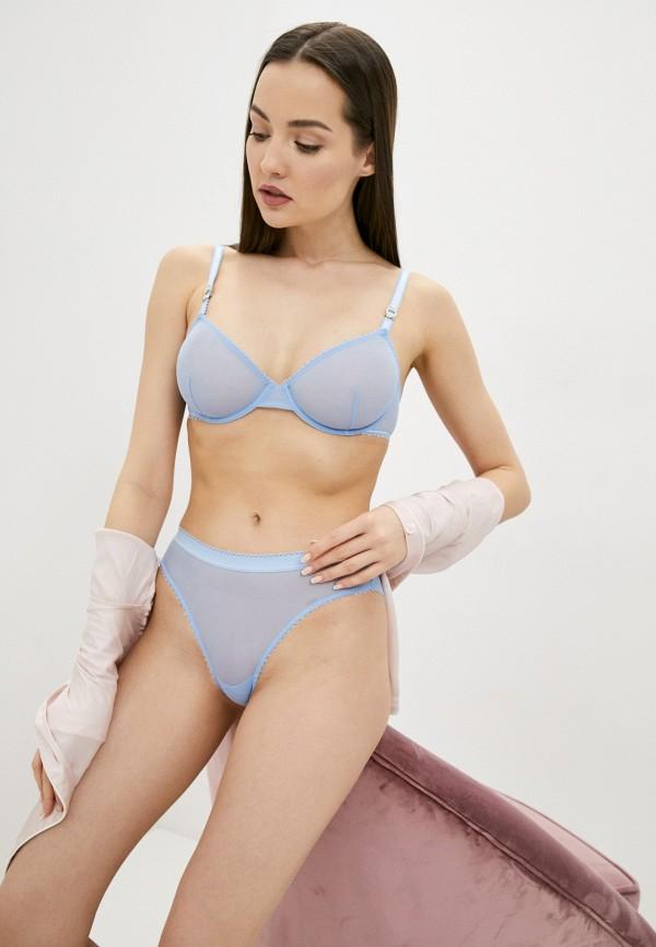 женские трусы-слипы stella mccartney underwear, голубые