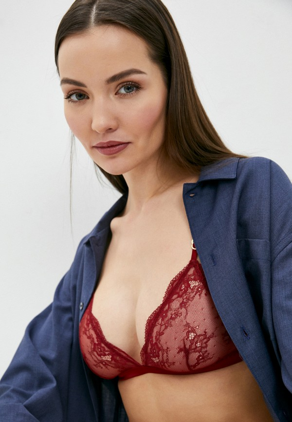 женский бюстгальтер stella mccartney underwear, бордовый