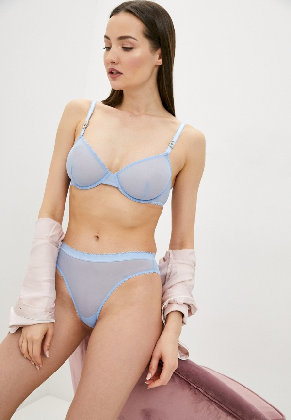 женский бюстгальтер на косточках stella mccartney underwear, голубой