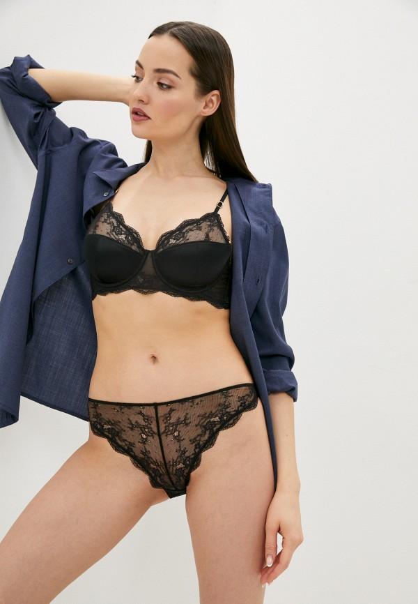 женский бюстгальтер на косточках stella mccartney underwear, черный
