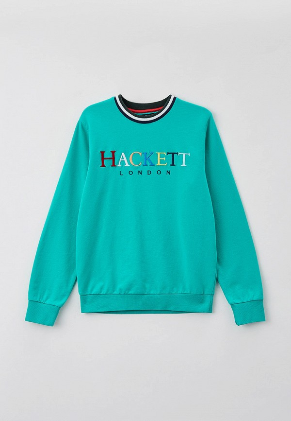 свитшот hackett london для мальчика, бирюзовый