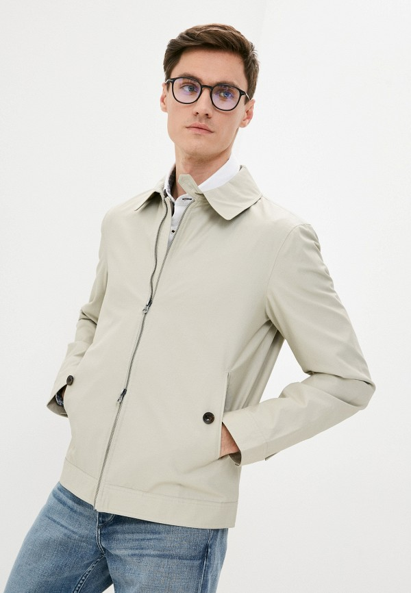 мужская куртка hackett london, бежевая