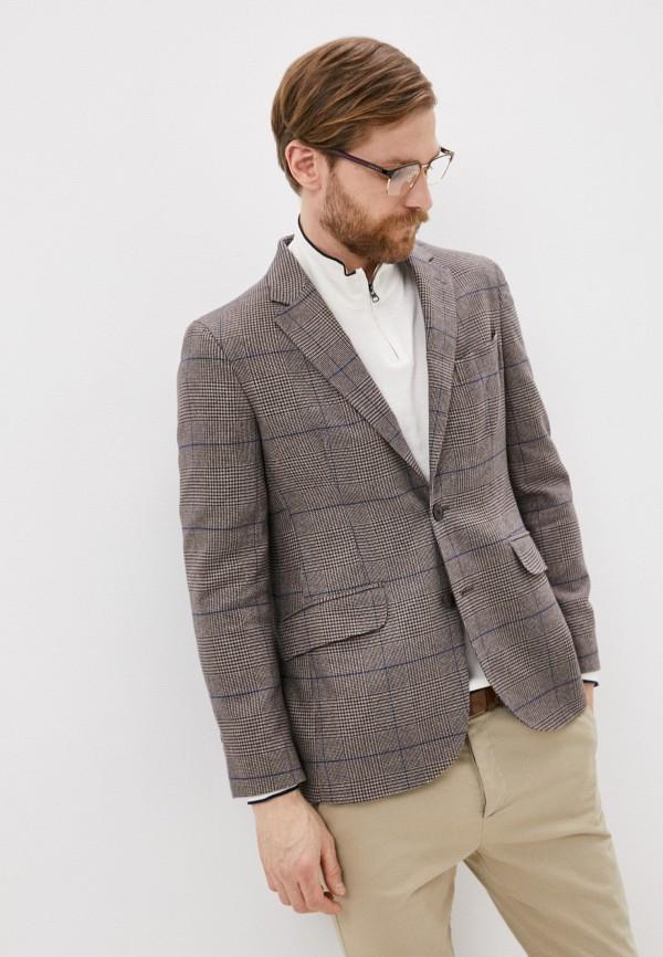 мужской пиджак hackett london, коричневый