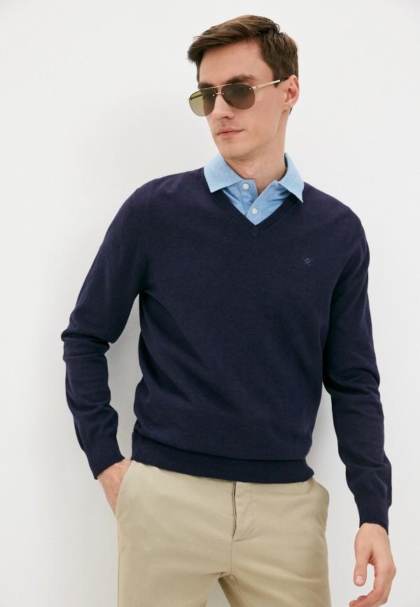 мужской пуловер hackett london, синий