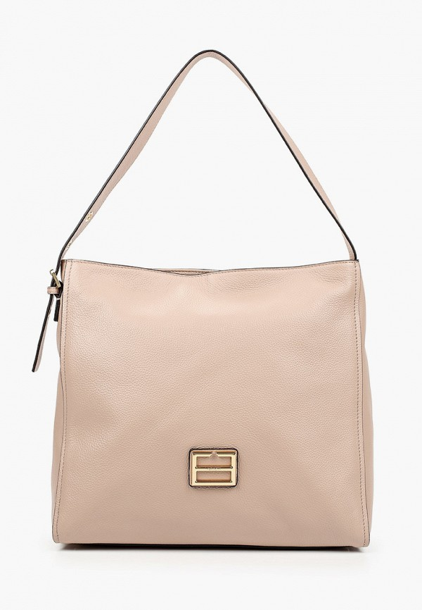 женская сумка с ручками fabretti, бежевая