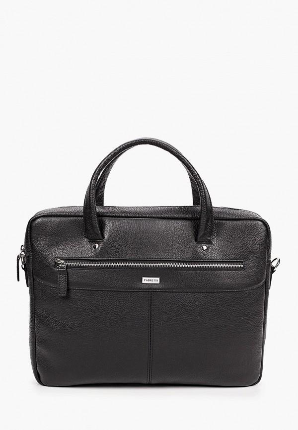 мужская сумка с ручками fabretti, черная
