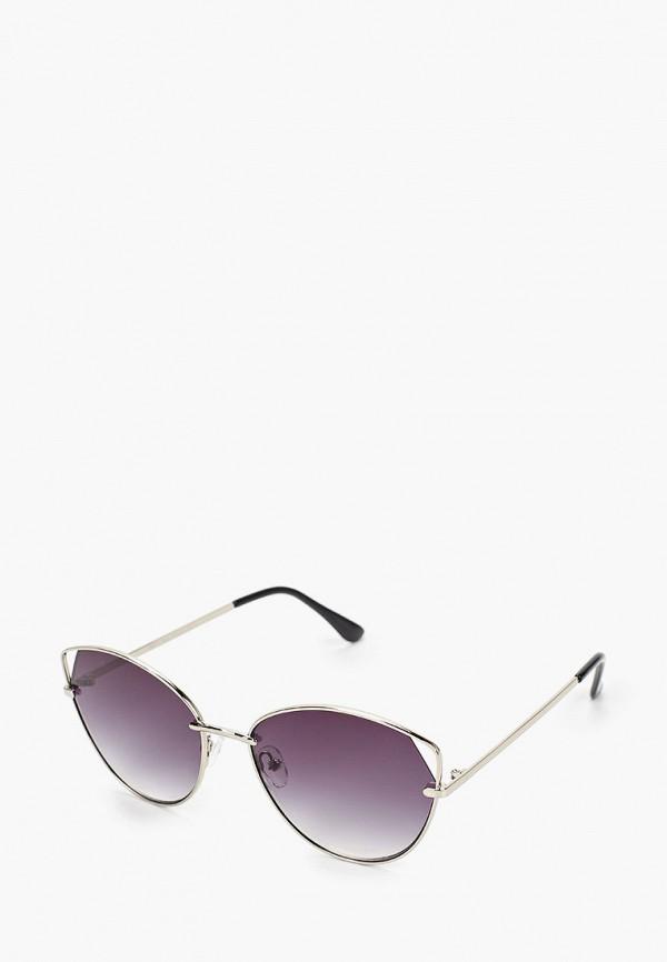 женские солнцезащитные очки кошачьи глаза fabretti, серебряные