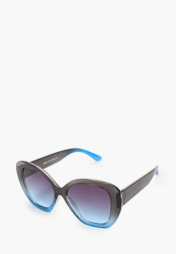 женские квадратные солнцезащитные очки fabretti, бирюзовые