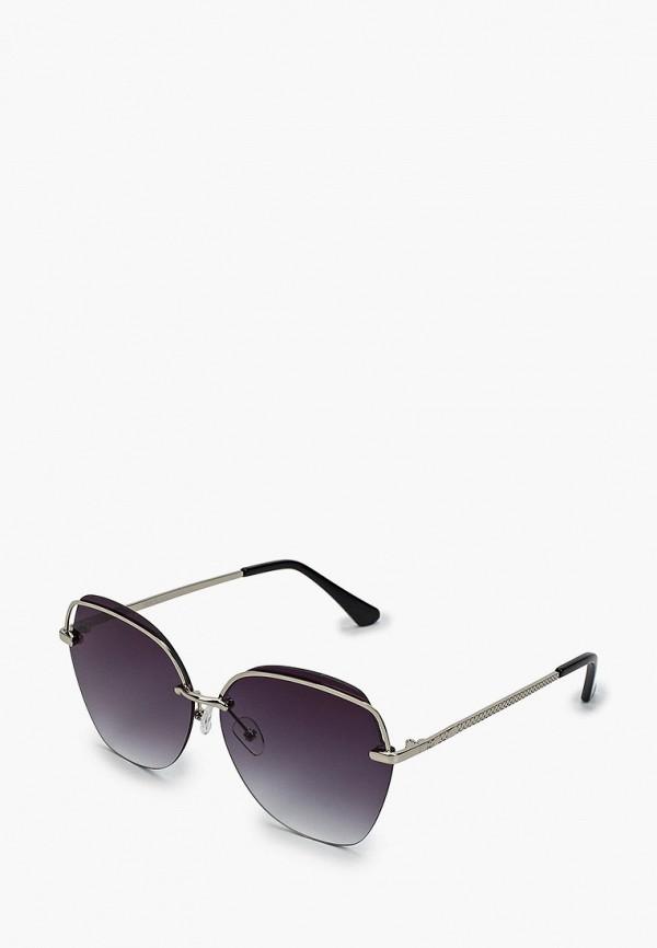 женские круглые солнцезащитные очки fabretti, серебряные