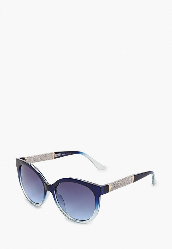 женские круглые солнцезащитные очки fabretti, синие