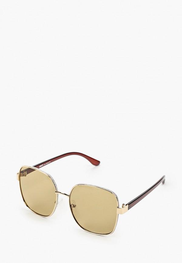 женские квадратные солнцезащитные очки fabretti, коричневые