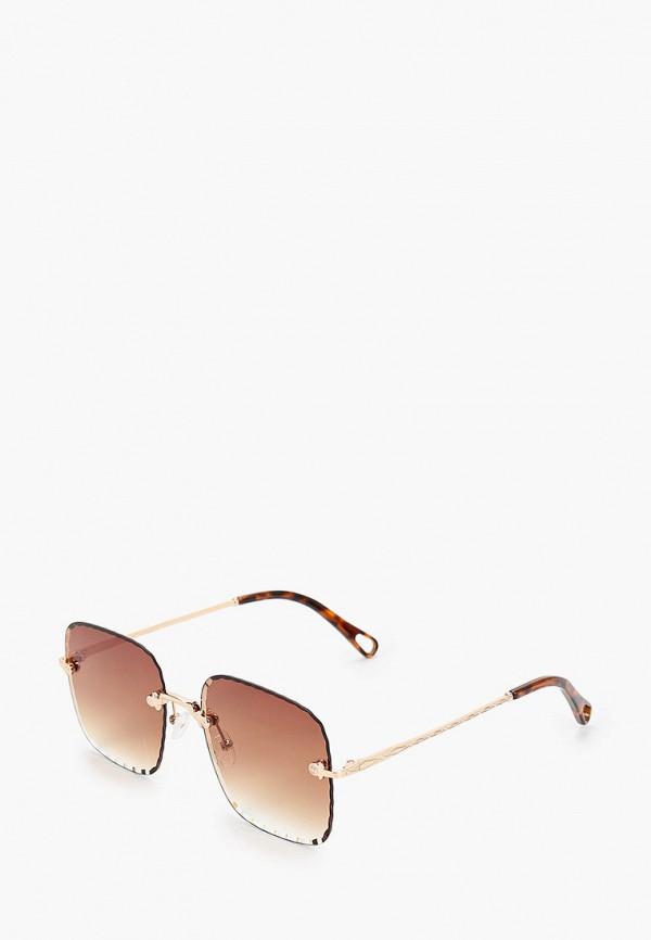 женские квадратные солнцезащитные очки fabretti, золотые