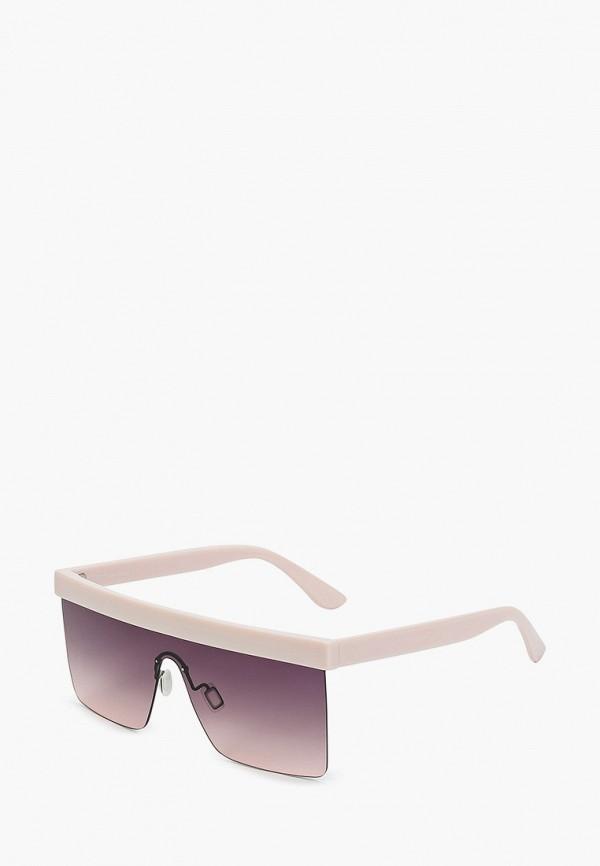 женские квадратные солнцезащитные очки fabretti, розовые