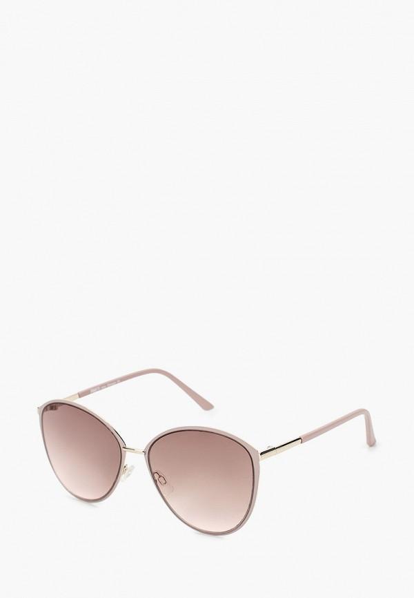 женские круглые солнцезащитные очки fabretti, розовые