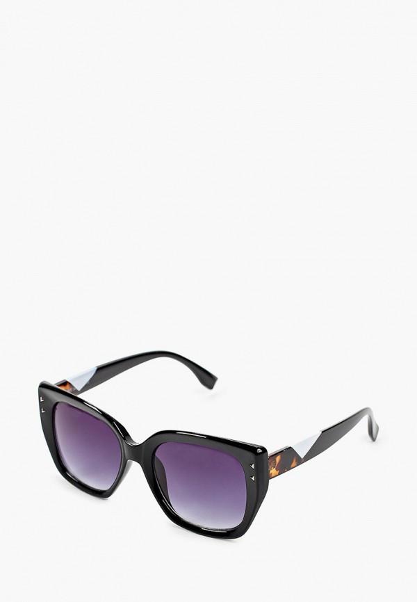 женские квадратные солнцезащитные очки fabretti, черные
