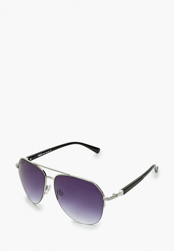 женские авиаторы солнцезащитные очки fabretti, серебряные