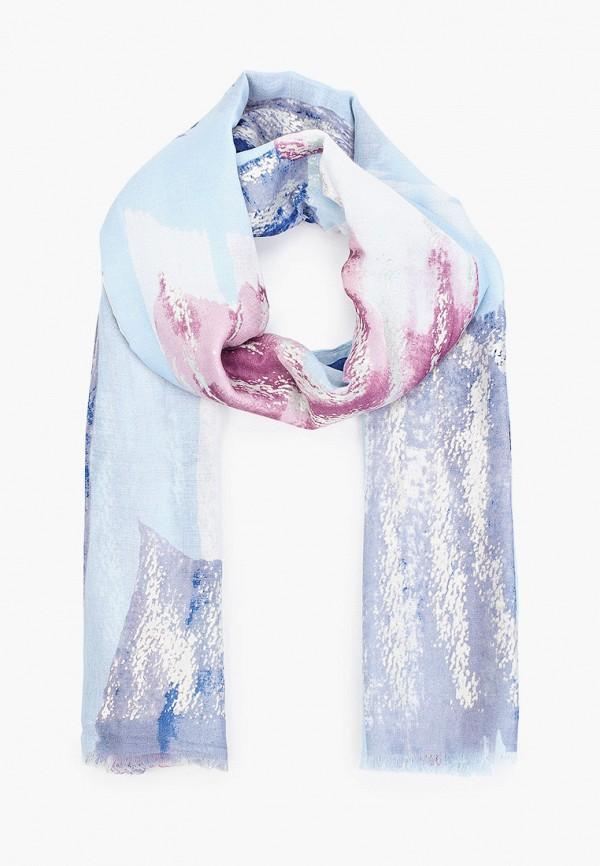 женский палантин fabretti, голубой