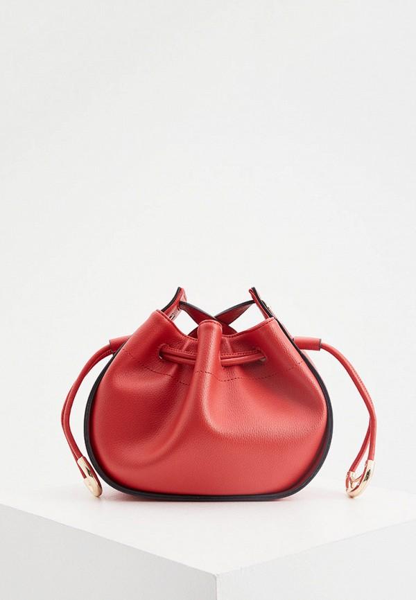 женская сумка через плечо liu jo, красная