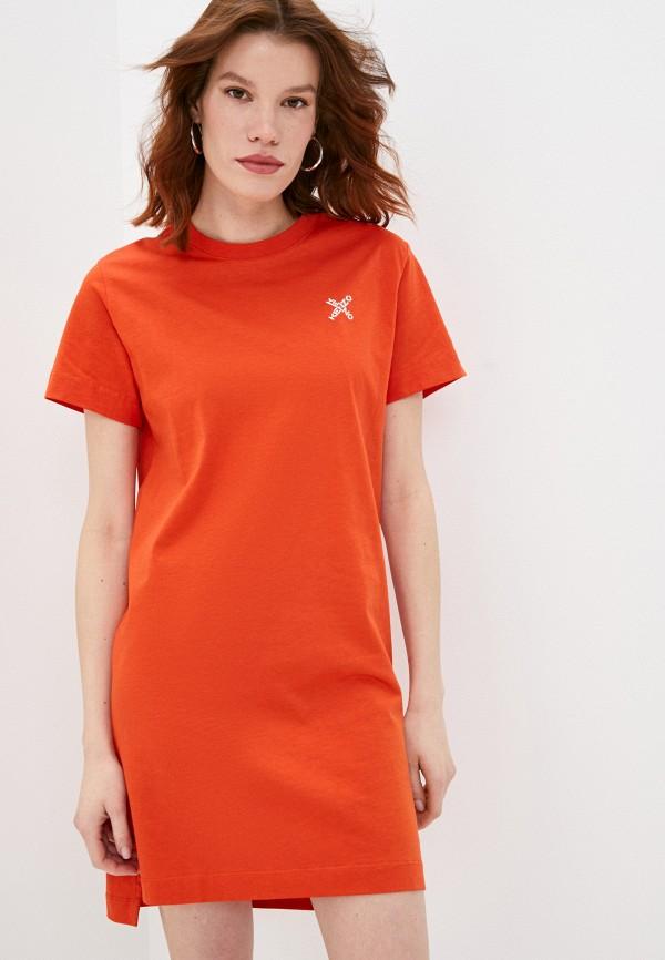 женское платье kenzo, оранжевое