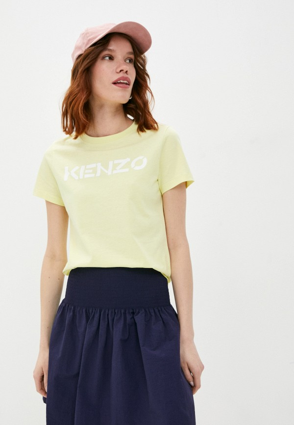женская футболка kenzo, желтая