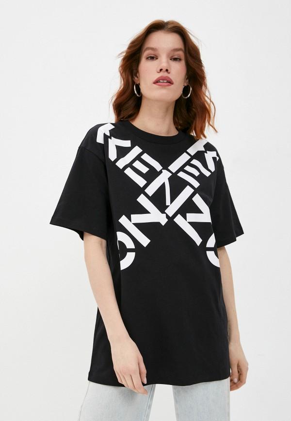 женская футболка kenzo, черная