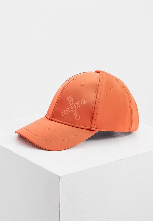 женская бейсболка kenzo, оранжевая