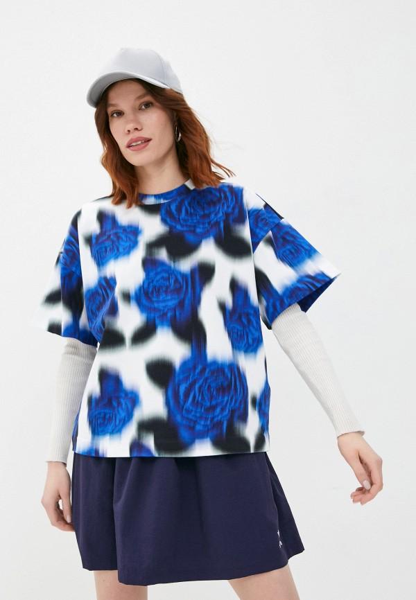 женская футболка kenzo, синяя