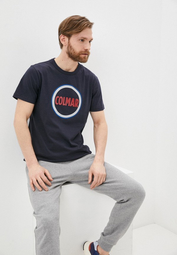 мужская футболка colmar, синяя