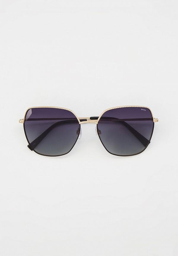женские квадратные солнцезащитные очки invu, серебряные