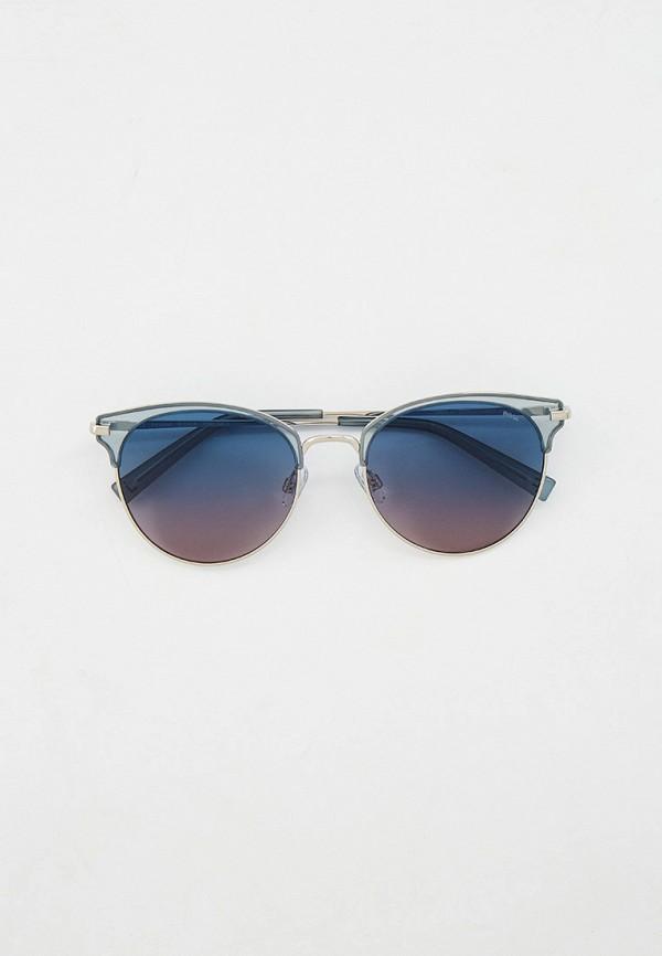 женские солнцезащитные очки кошачьи глаза invu, серебряные