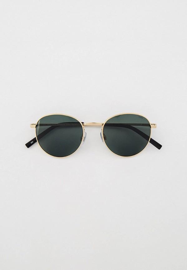 женские круглые солнцезащитные очки invu, золотые