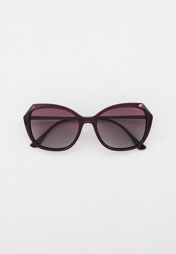 женские квадратные солнцезащитные очки invu, фиолетовые
