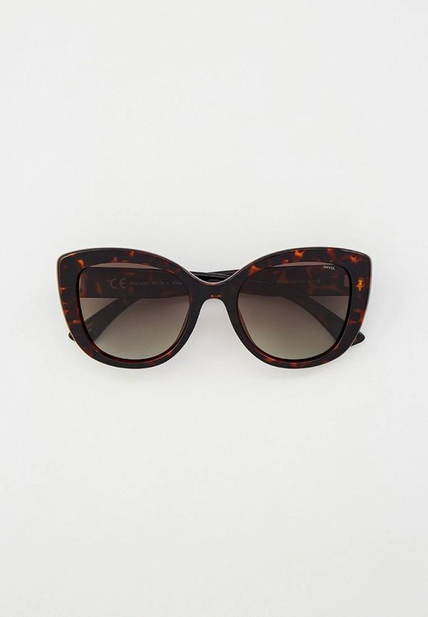 женские солнцезащитные очки invu, коричневые