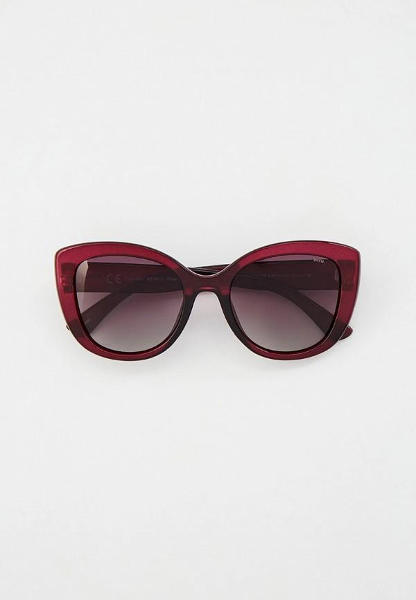 женские солнцезащитные очки invu, бордовые
