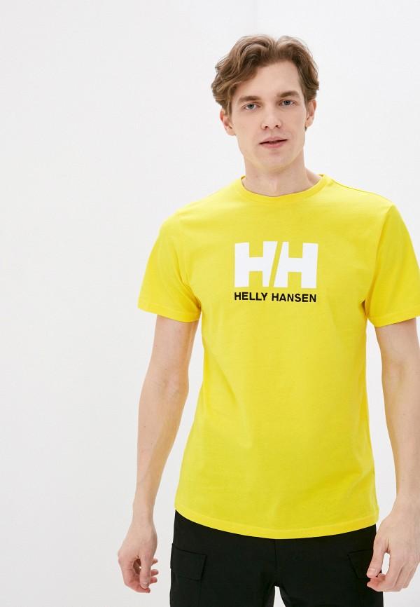 мужская спортивные футболка helly hansen, желтая