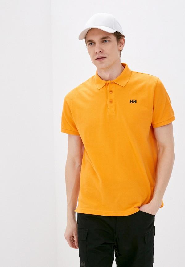 мужское поло helly hansen, оранжевое