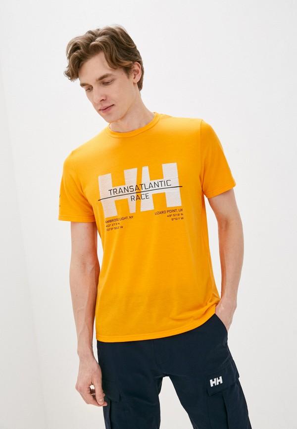 мужская спортивные футболка helly hansen, оранжевая