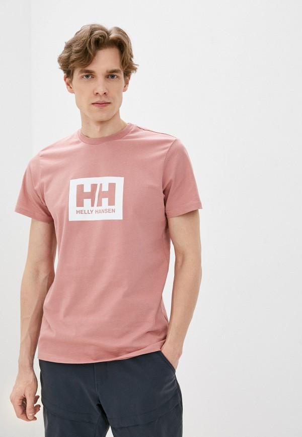 мужская спортивные футболка helly hansen, розовая