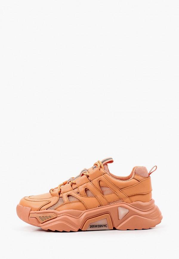 женские низкие кроссовки respect, оранжевые