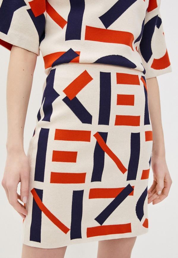 женская прямые юбка kenzo, бежевая