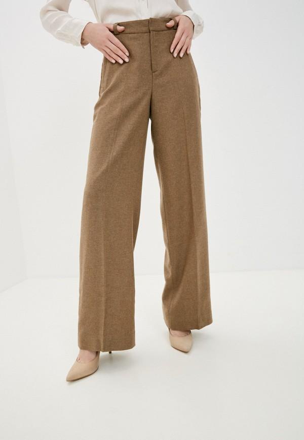 женские классические брюки banana republic, коричневые