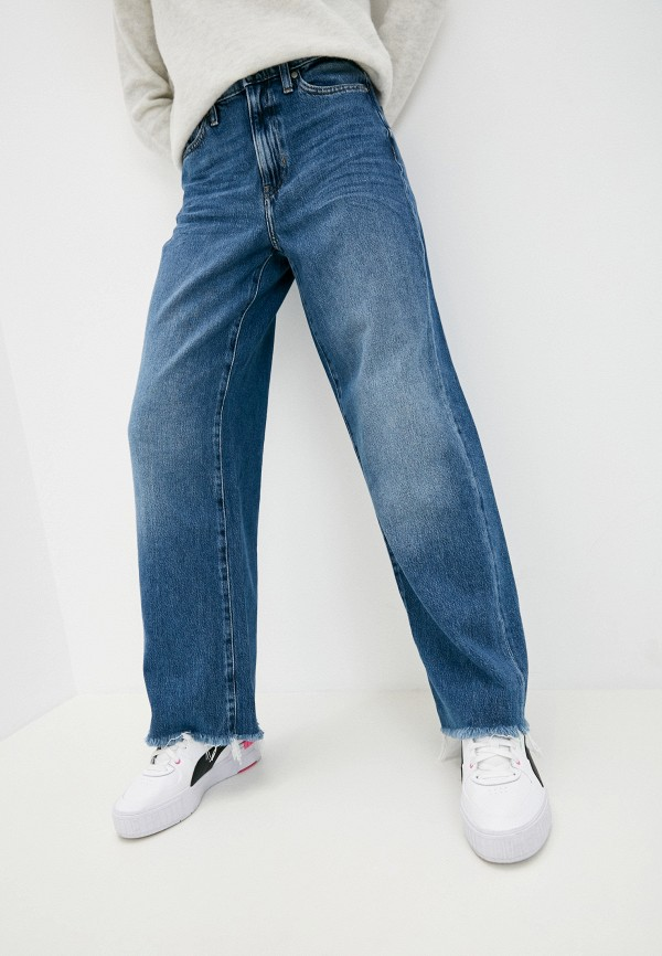женские прямые джинсы banana republic, синие
