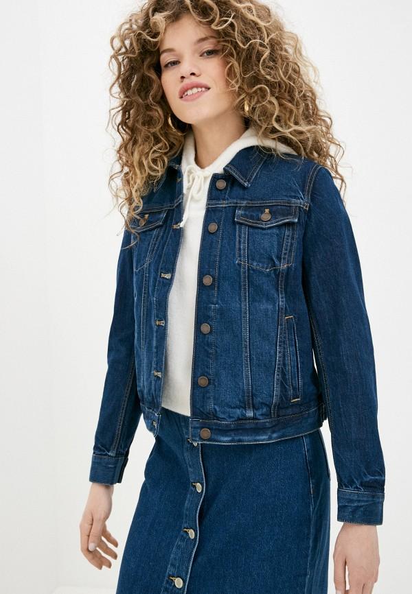 женская джинсовые куртка banana republic, синяя