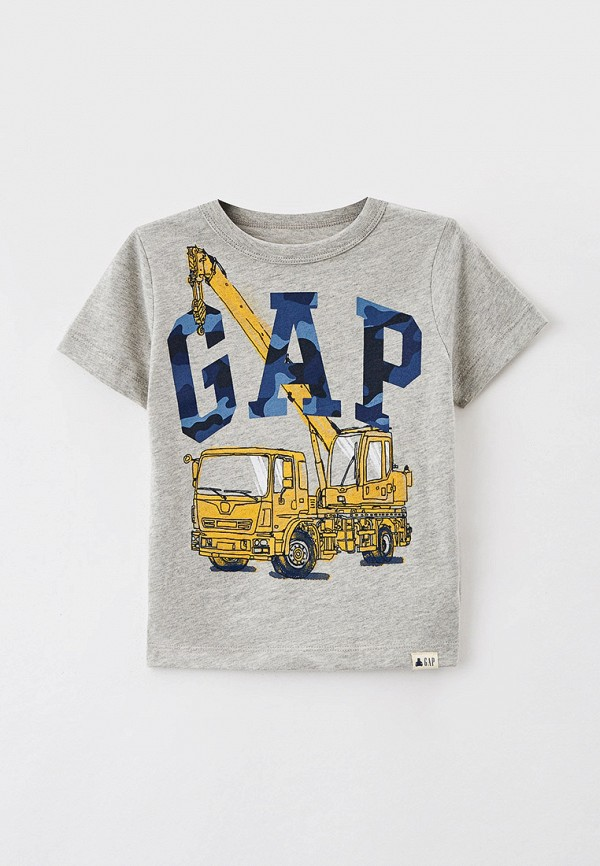 футболка с коротким рукавом gap для мальчика, серая