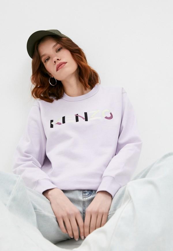 женский свитшот kenzo, фиолетовый