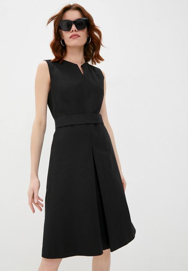 женское платье-футляр eleventy, черное