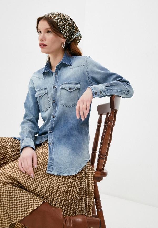 женская джинсовые рубашка eleventy, голубая