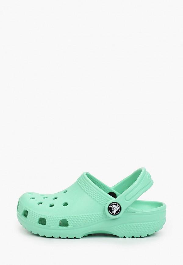 сабо crocs малыши, зеленое