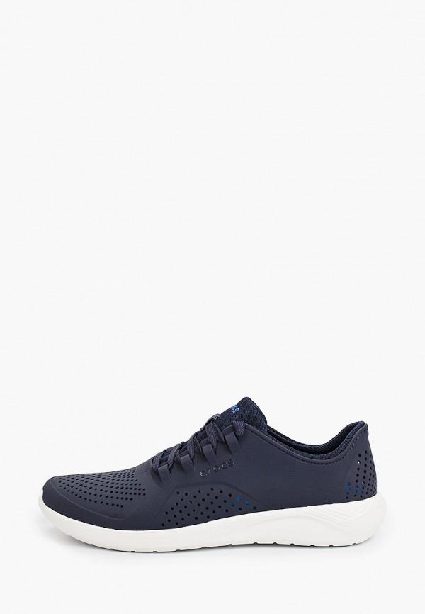 мужские низкие кроссовки crocs, синие