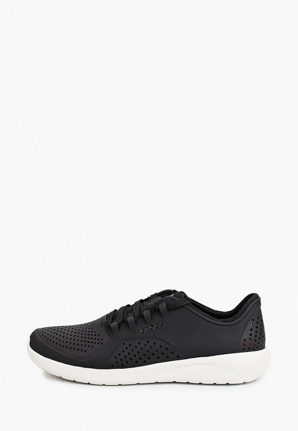 женские низкие кроссовки crocs, черные